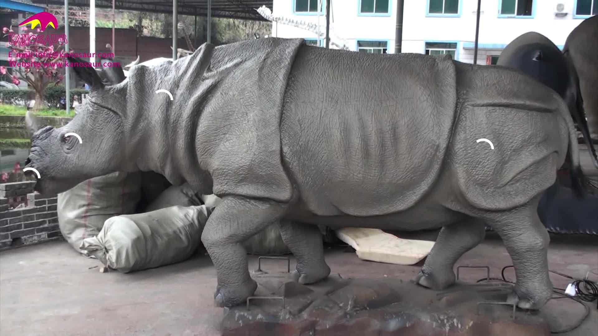 KANO-071 Theme Park Lifelike Animatronic Rhino