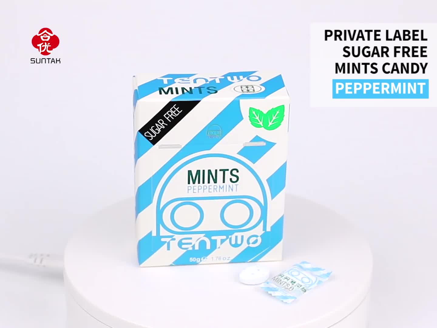 Sugar Free Grapes Flavoured Strong Mints Candy In paper box pack