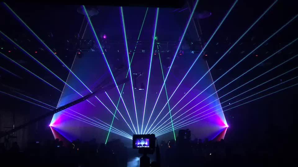 10 w RGB DJ della fase della discoteca della luce laser show attrezzature per la vendita