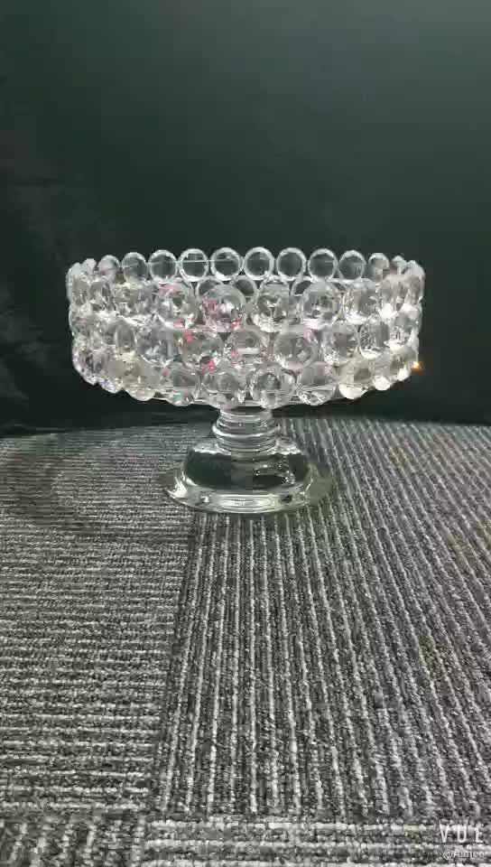 SHB033 Pujiang Wholesale High Quality Manufacturer Supply Crystal Glass Fruit Plat  For Wedding , Party , Home Decor