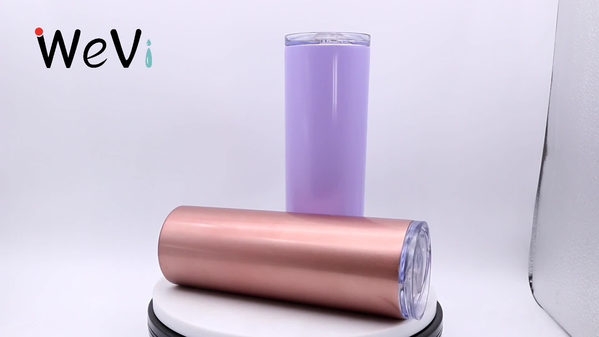 Wavi-vaso con tapa de acero inoxidable, 40oz, 30oz, 20oz, 14oz, 304, vaso con tapa de paja