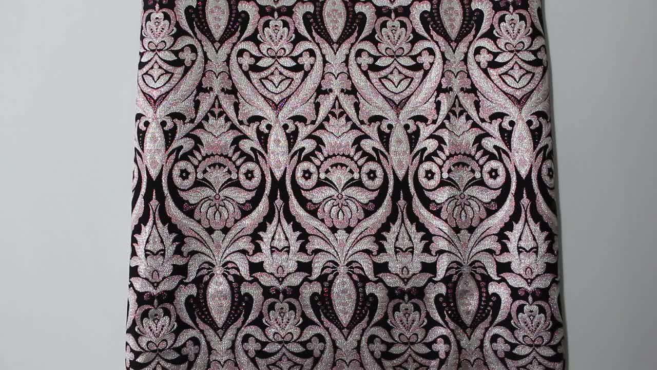 PARISS guinea metallic brokat polyester jacquard stoff für kleid
