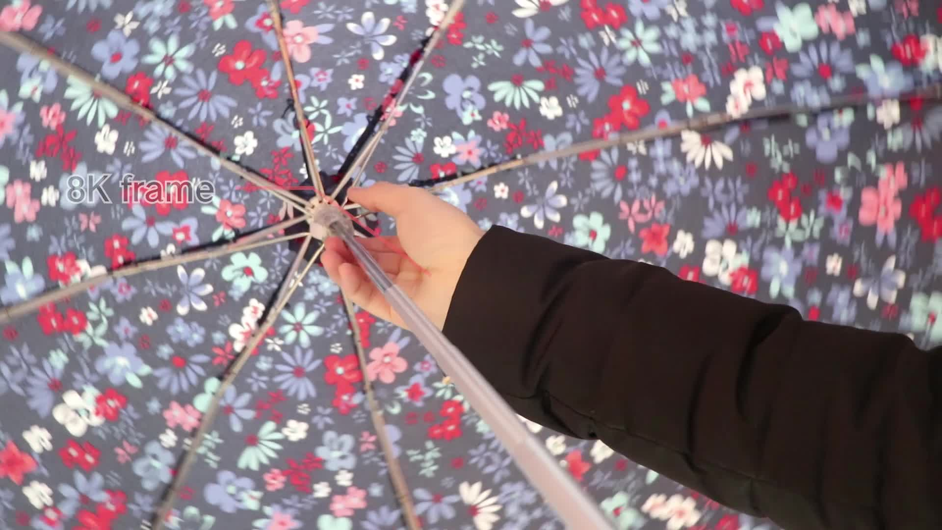 RST flower design five folding umbrella quality chinese products small umbrella