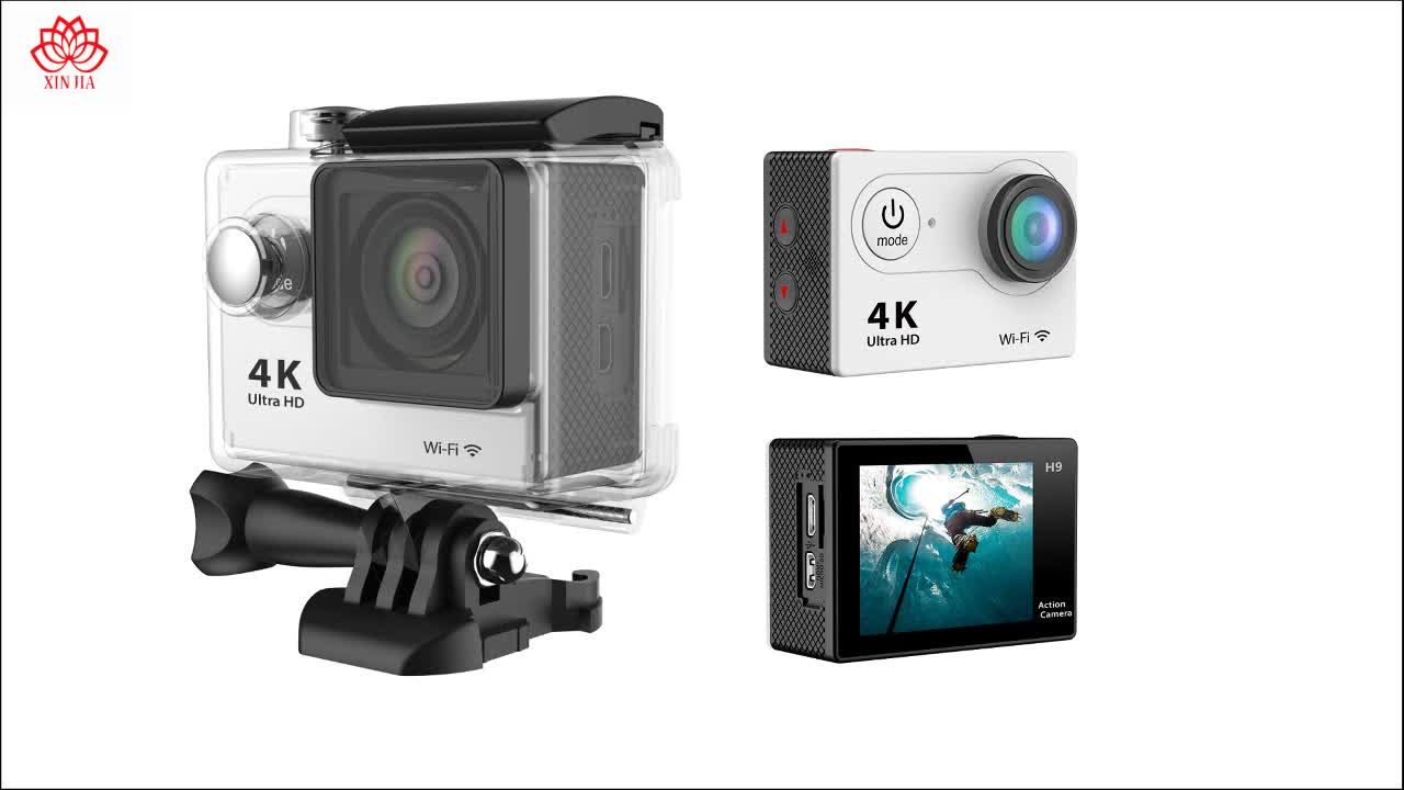 High Speed Full HD 1080 p 720 p H.264 Mini Sport Camera ALLWinner H9R Waterdichte Wifi 60fps 30fps 25fps 4 k Action Camera