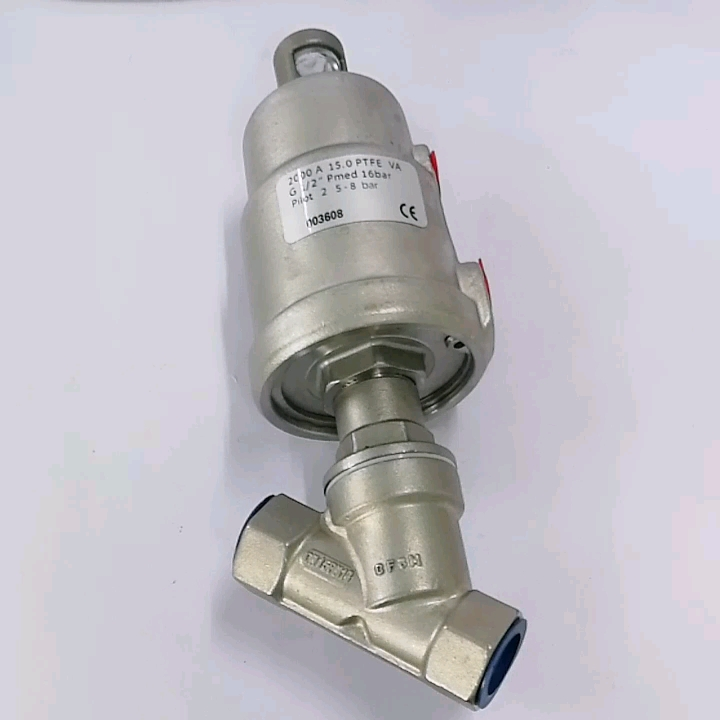 Stainless Steel DN40 Pneumatic Angle Seat Valve