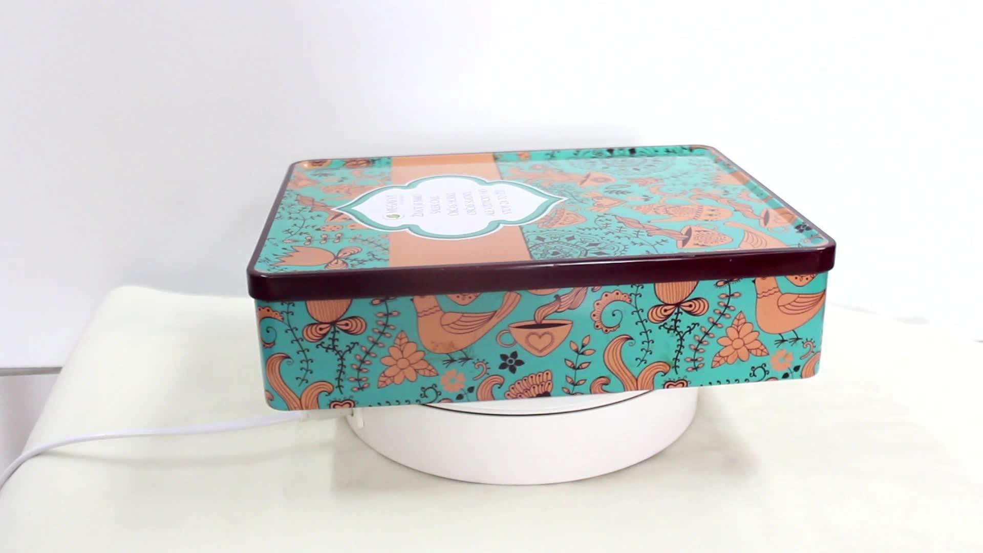OEM Christmas Gift & Square Storage Packaging Metal Tin Boxes