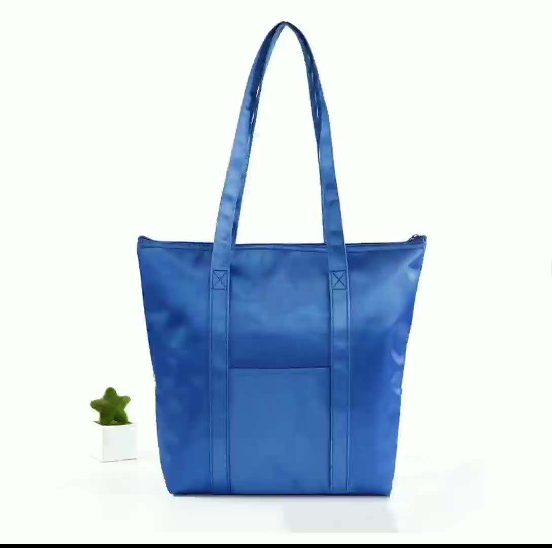 Custom Logo Eco Reusable Thermal Insulated Polyester Lunch Cooler Tote Bag For Bread