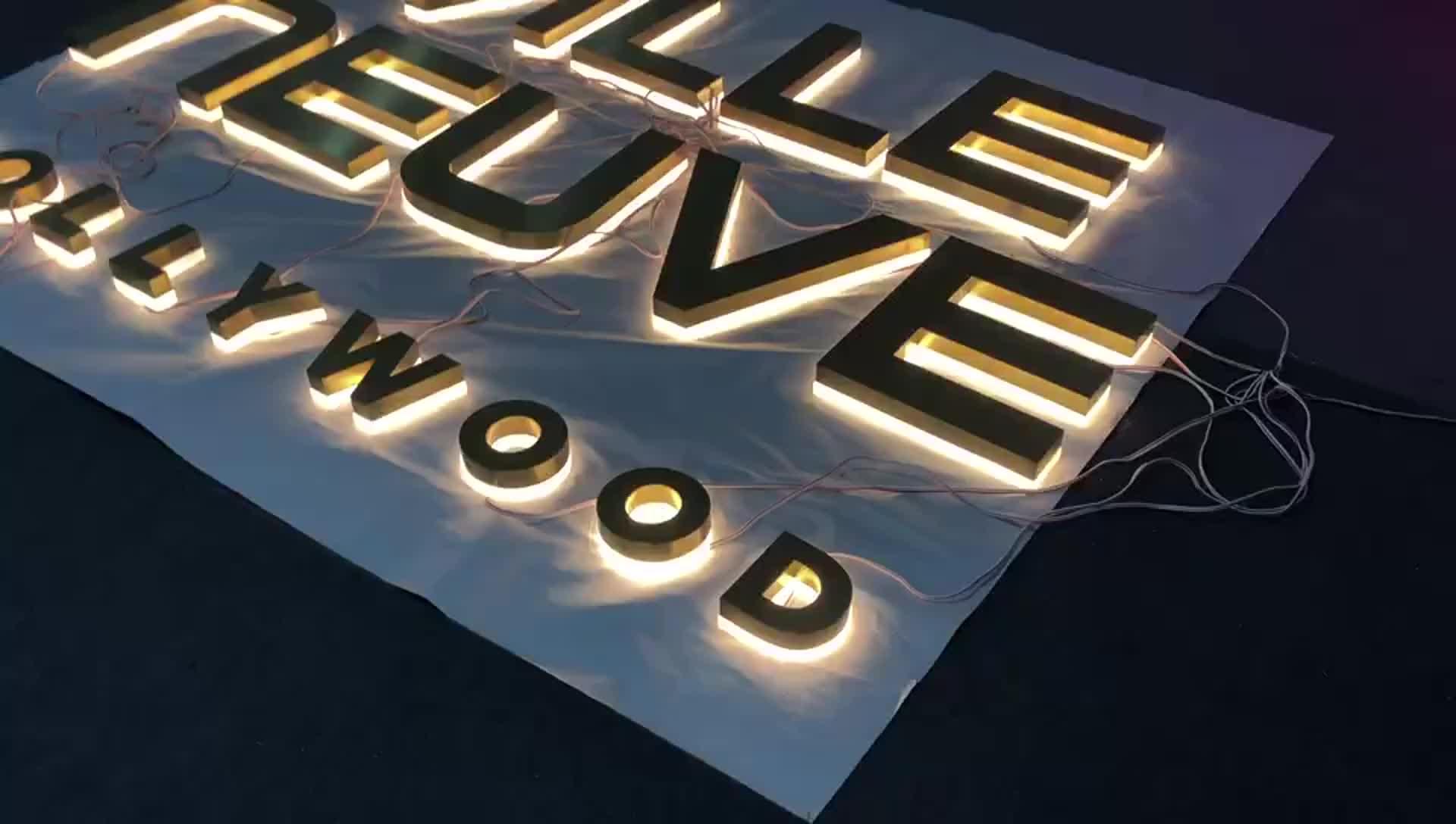 Hight Qualidade Interior Levou Sinal Carta Backlit 3D Sinalização de Acrílico Para Restaurante
