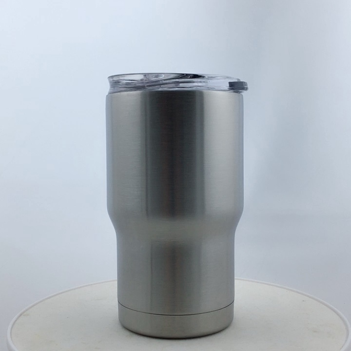 14oz Stainless Steel Tumbler Double Wall Insulated Vacuum With Sliding Lid