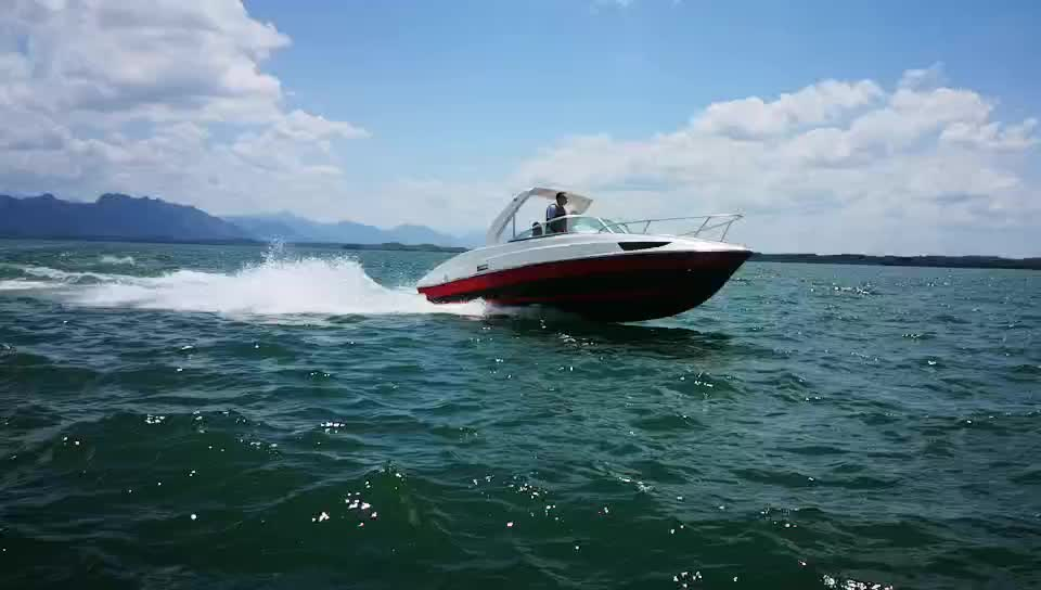 10-12 persons Half Cabin Outboard Engine speed boat for sale with CE certification