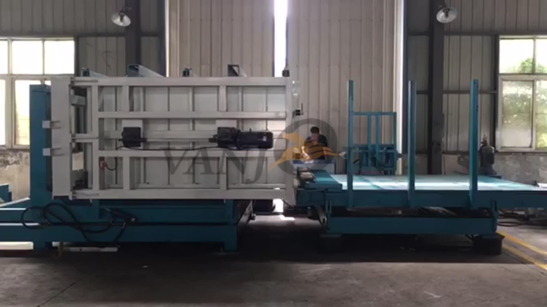 Zand/vliegas cement beton one touch lichtgewicht interieur wandpaneel machines