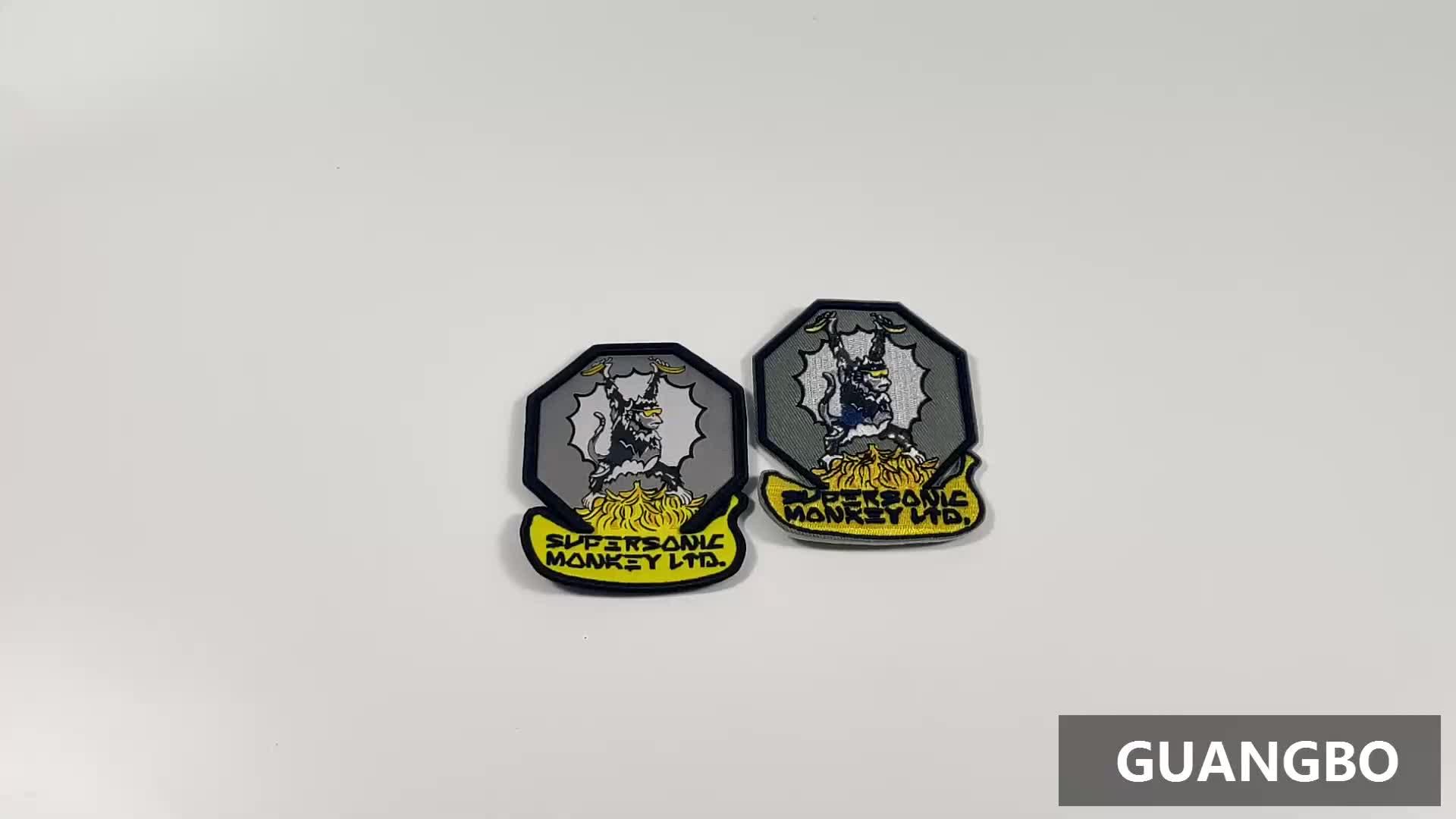 Patch de broderie 3d coudre sur les patchs brodés personnalisé 3d broderie patch logo