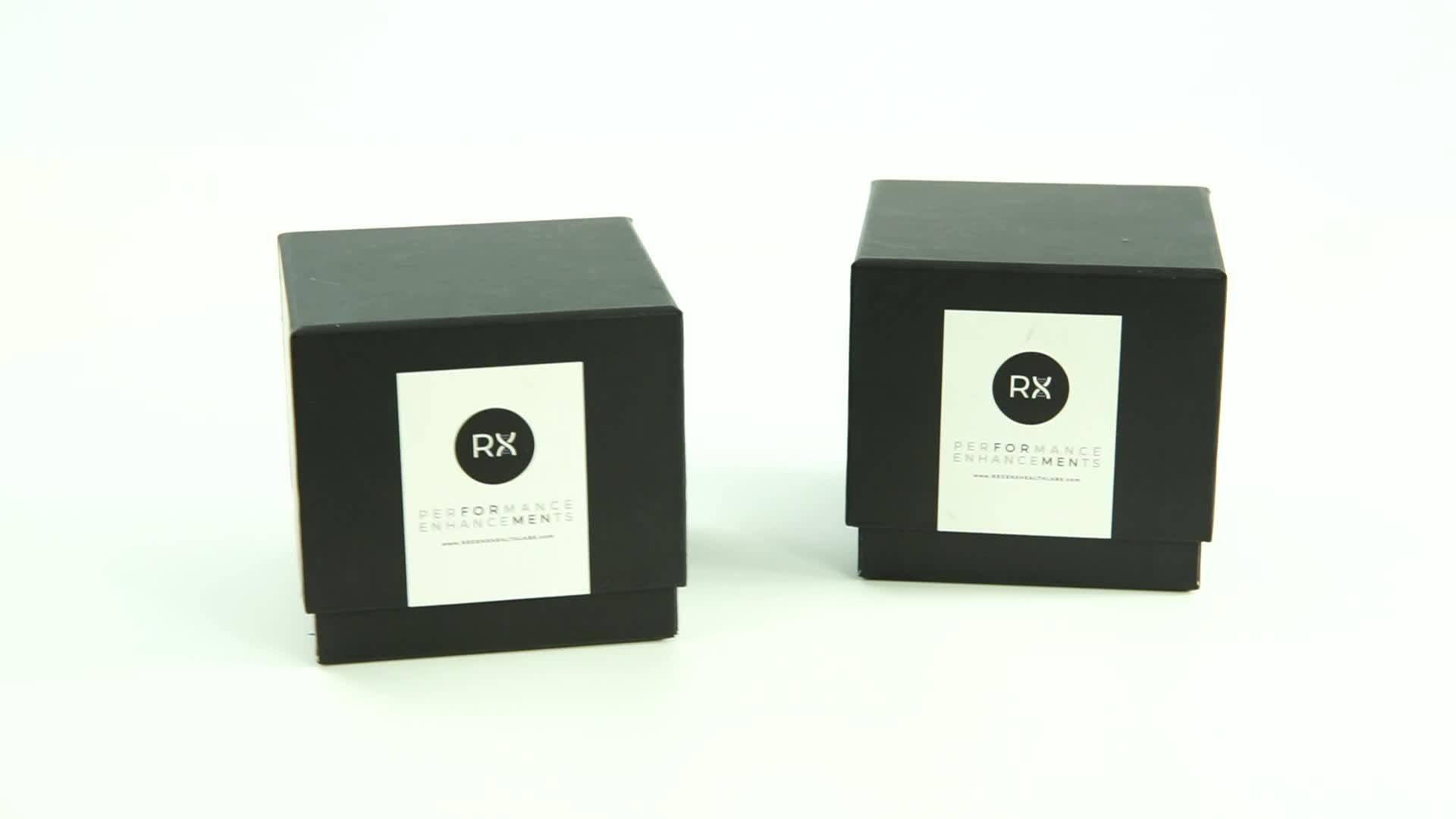 ขายส่ง luxury custom made แข็งกระดาษแข็งเทียนบรรจุภัณฑ์กล่อง
