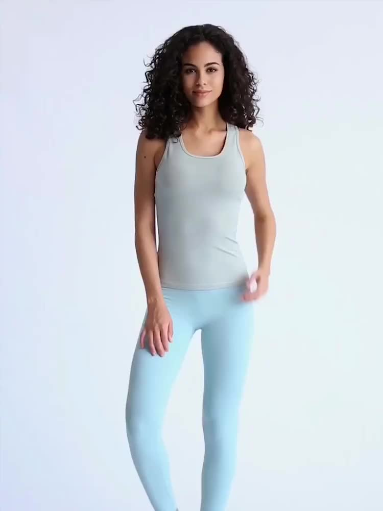 Womens Compression Stretch Active Gym Racerback Fit Dry Tank Tops Wholesale