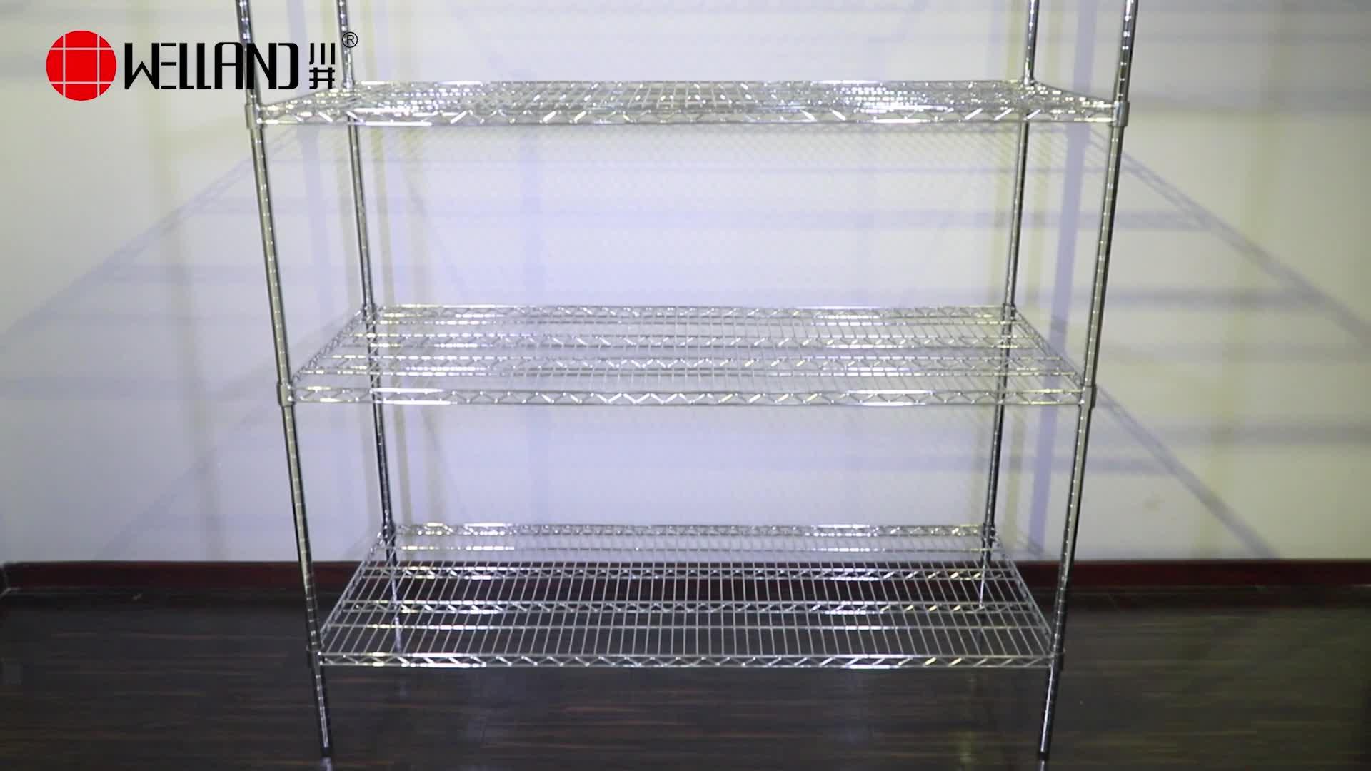 Modern Rack 6 Tiers Heavy Duty Iron Wire Shelving Chrome Metro Office Shelf Metal