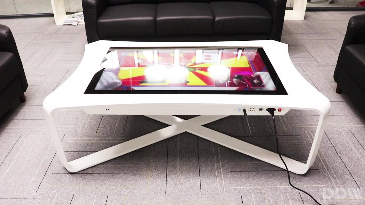 Customizable 43 inch smart multifunction touch screen coffee table 10 capacitance touch screen coffee table computer