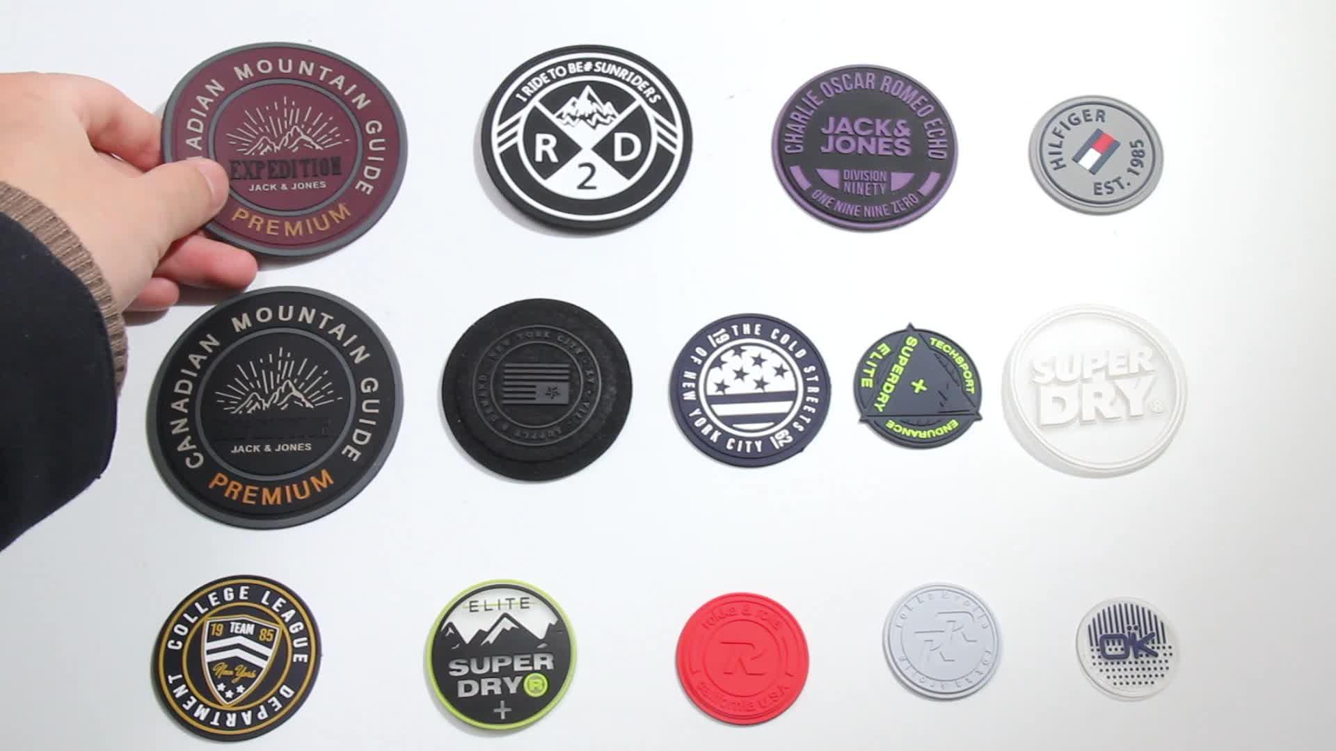 Экологичная Резина Заказная заплата 3d Силиконовые ПВХ этикетки для одежды