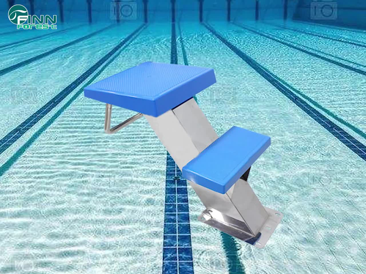 Used Swimming Pool Removable Pool Starting Block Two Step