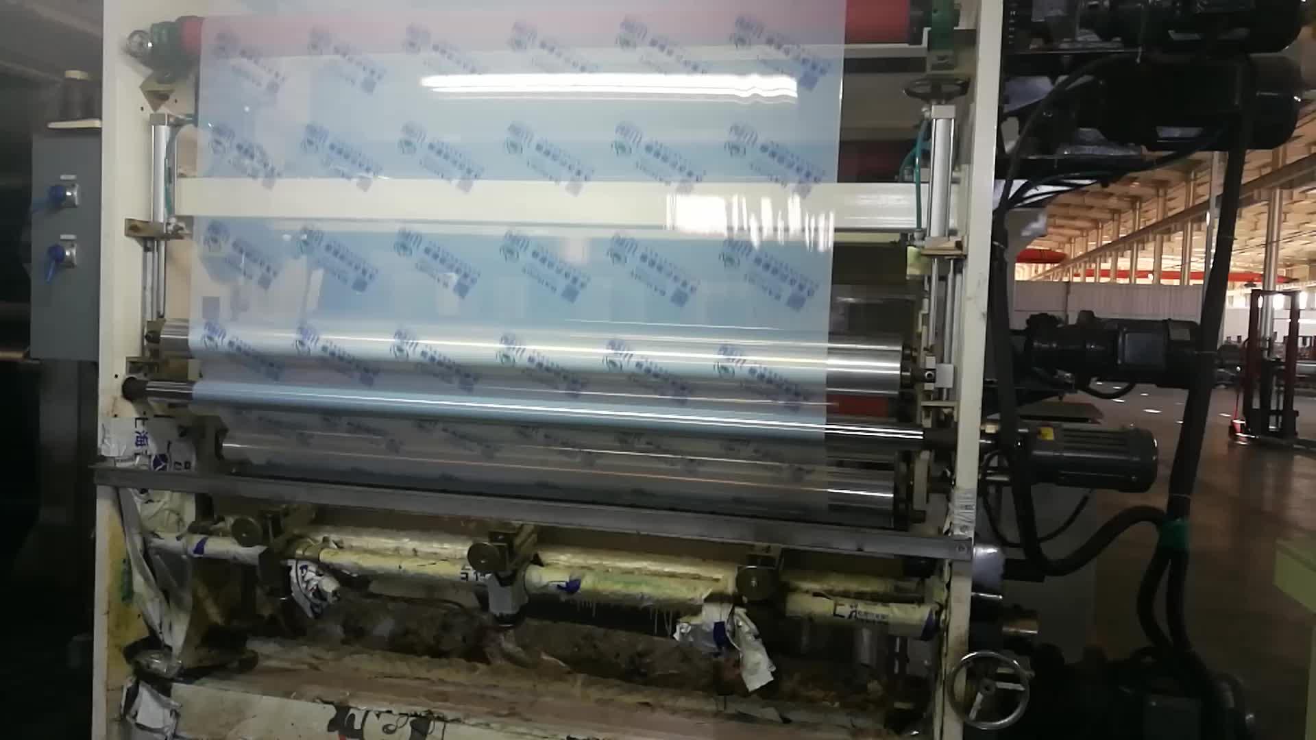 Hochwertige weiche Anti-UV-PE-transparente blaue Schutzfilmrollen