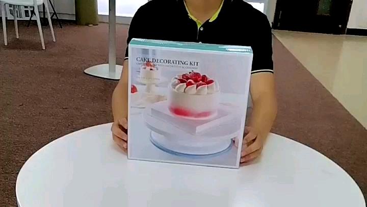 केक सजा किट Turntable 106 pcs पाक सेट Turntable केक सेंकना खड़े हो जाओ किट के साथ केक सजा युक्तियाँ सामान सजावट