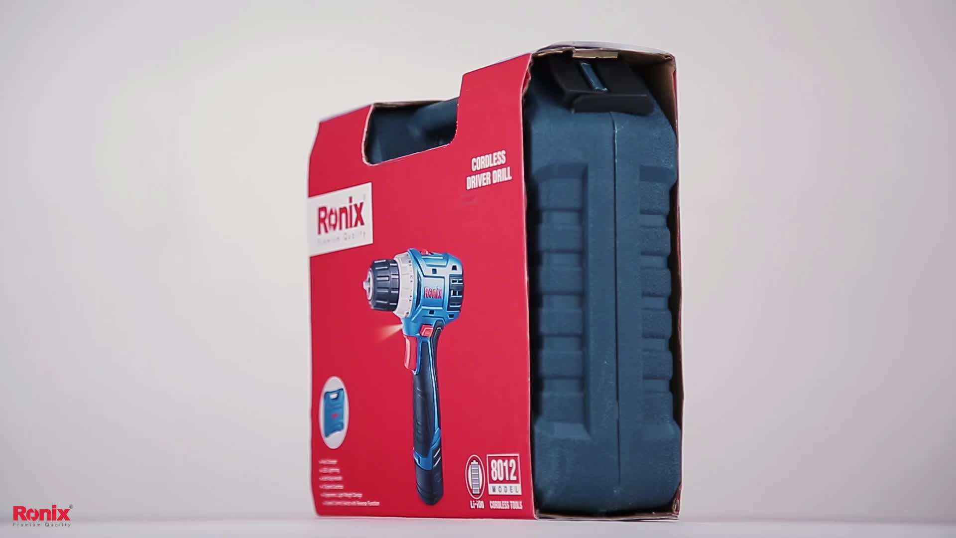 Ronix Power Tool Li-ion Brushless Power Driver Drill 12V Cordless Screwdriver Tools Model 8012C