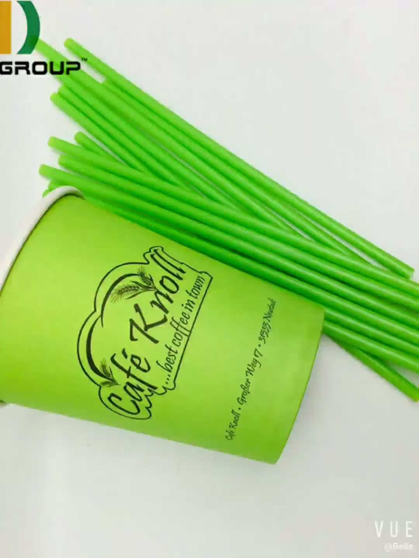 Eco Vriendelijke Aangepaste Kleur En Grootte Buigbare PLA Rietjes