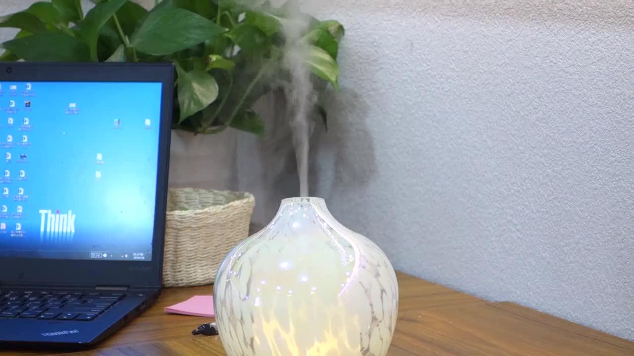 Top One Aroma Diffuser Art Glass Fragrance Diffuser Machine Home Nebulizer Diffuser