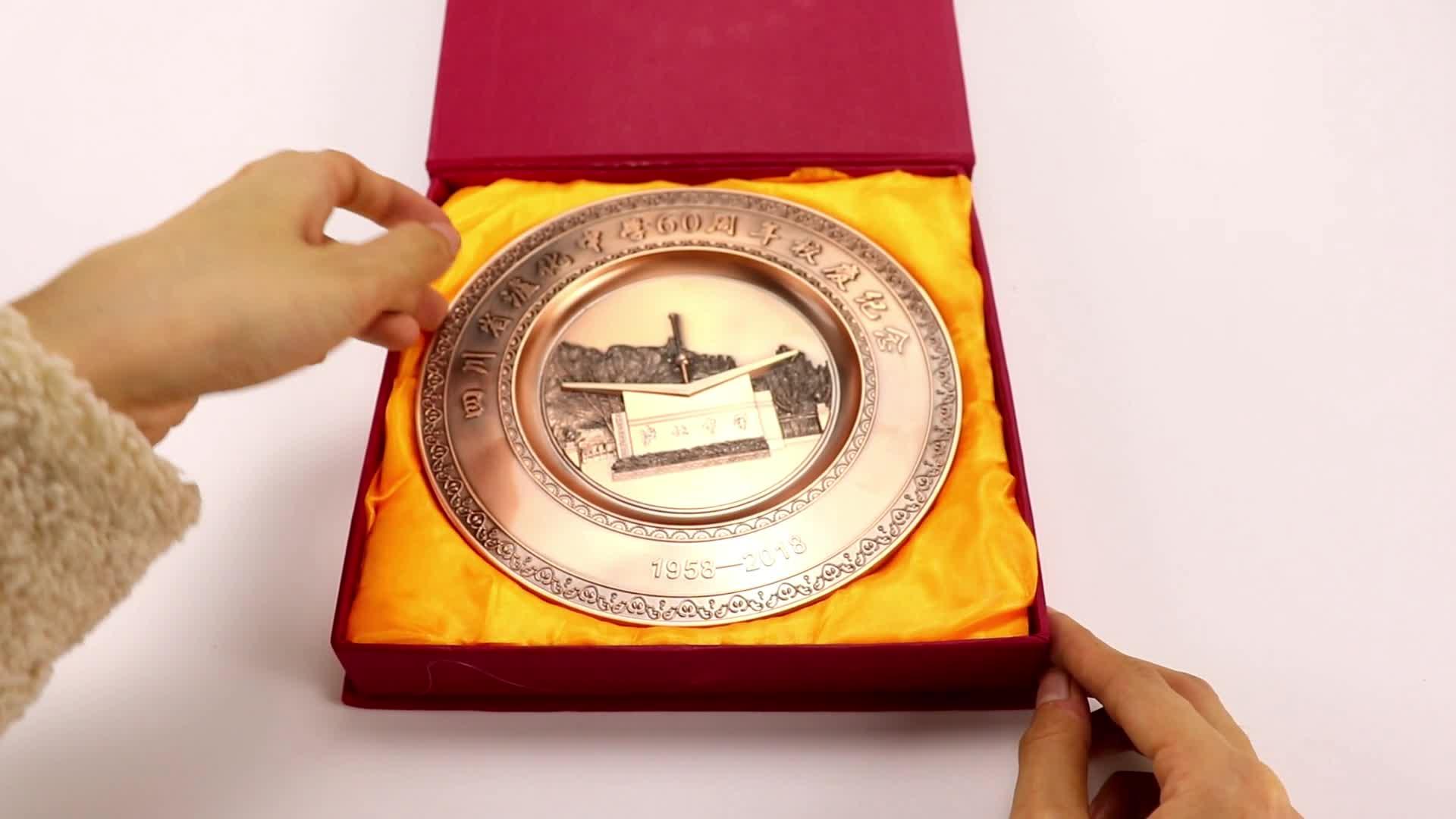 Prato de lembrança ouro antigo israel banhado 3d comemorativo país da cidade prêmios de metal