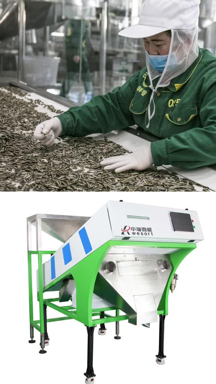 Sunflower Kernel Farbe Auswahl Maschine Peeling Sonnenblumen Samen Separator Maschine