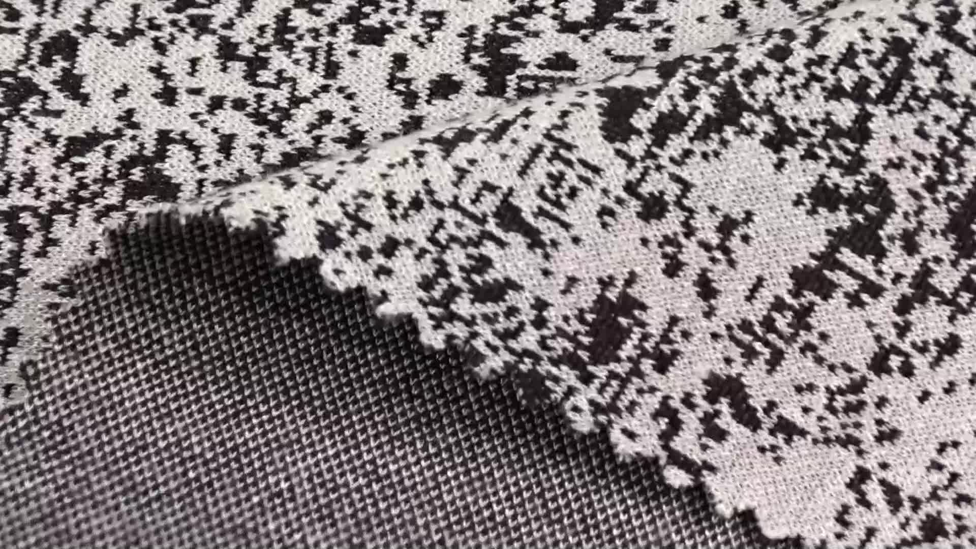 Guangdong Soft yarn-dyed jacquard knitted designer fabric high quality in stock