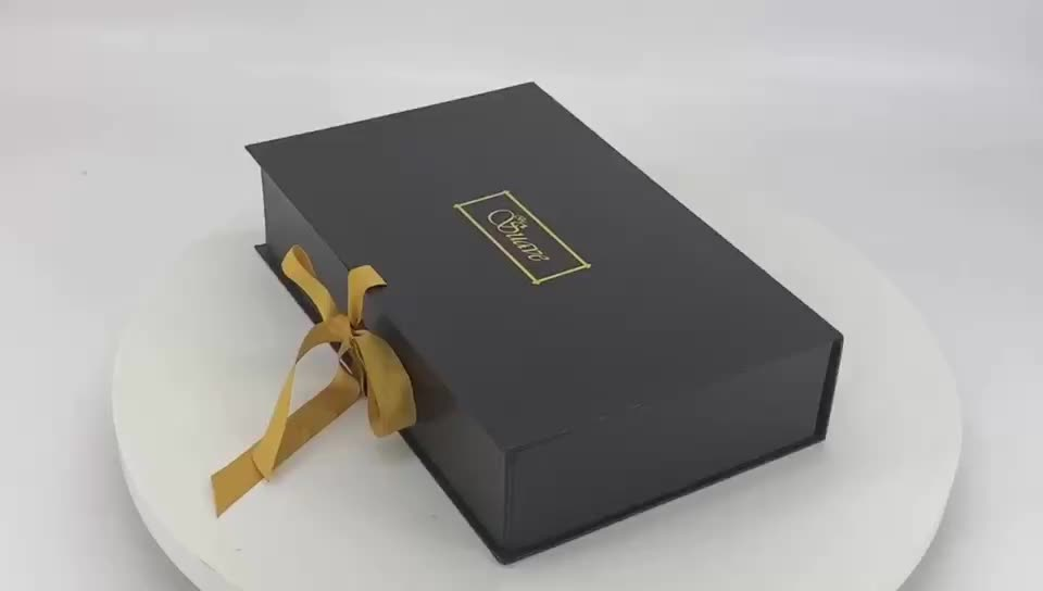White Beautiful luxurious ribbon butterfly design folding packaging gift box for women hand bag and cosmetics