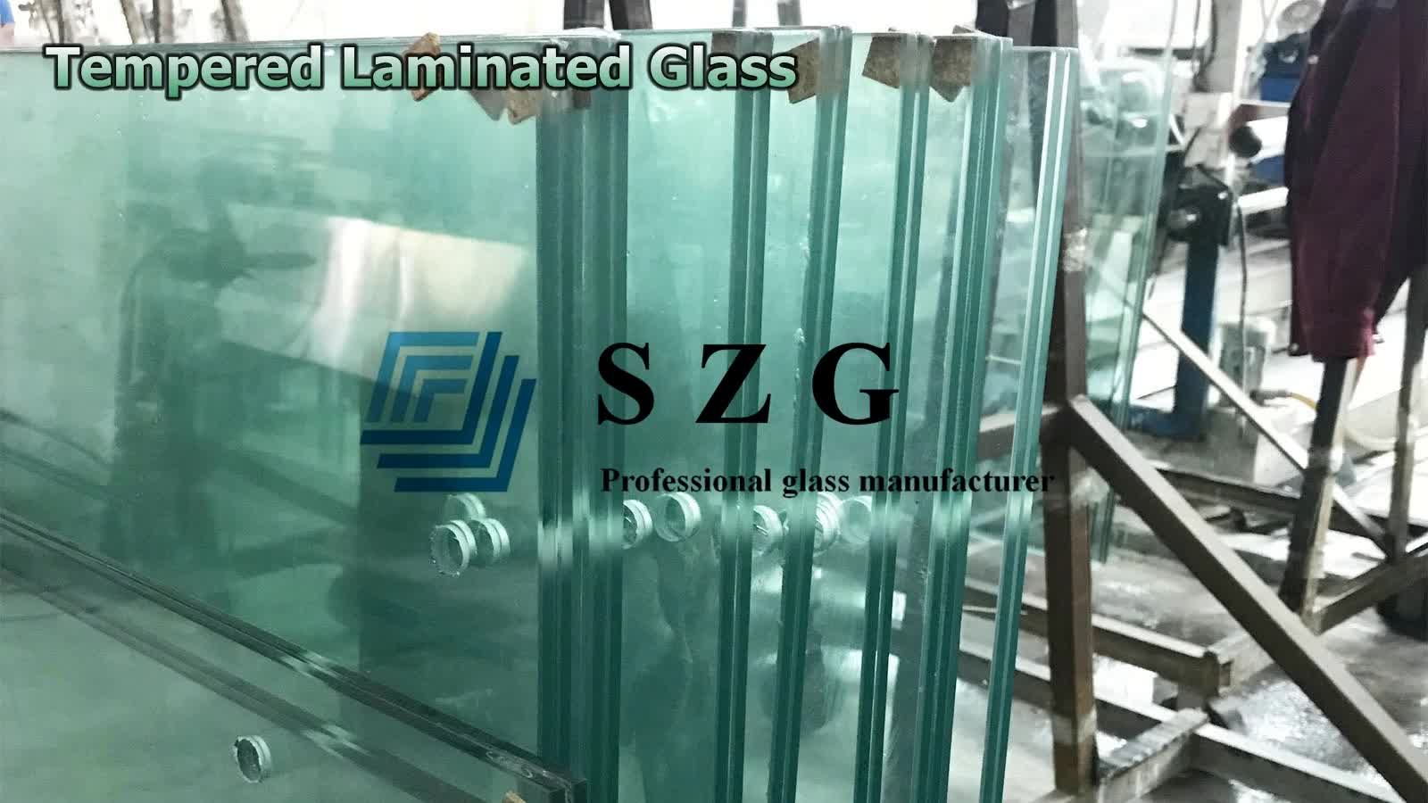 sgp toughened laminated glass custom size safety clear tempered laminated soundproof glass sheet vetro stratificato manufacturer