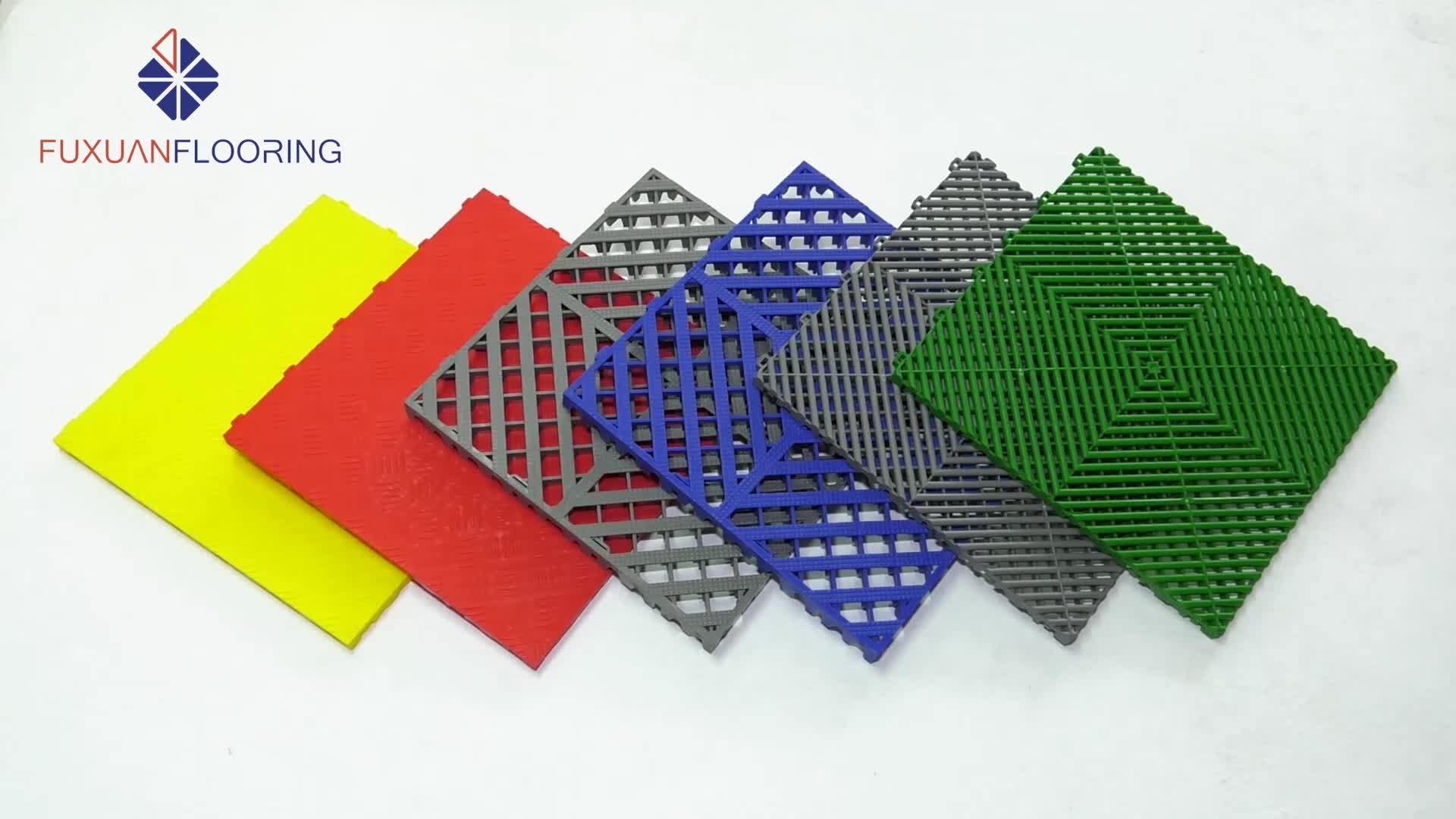 heavy duty Garage Floor Tiles Interlocking Plastic floor tiles for carparking/tradeshow