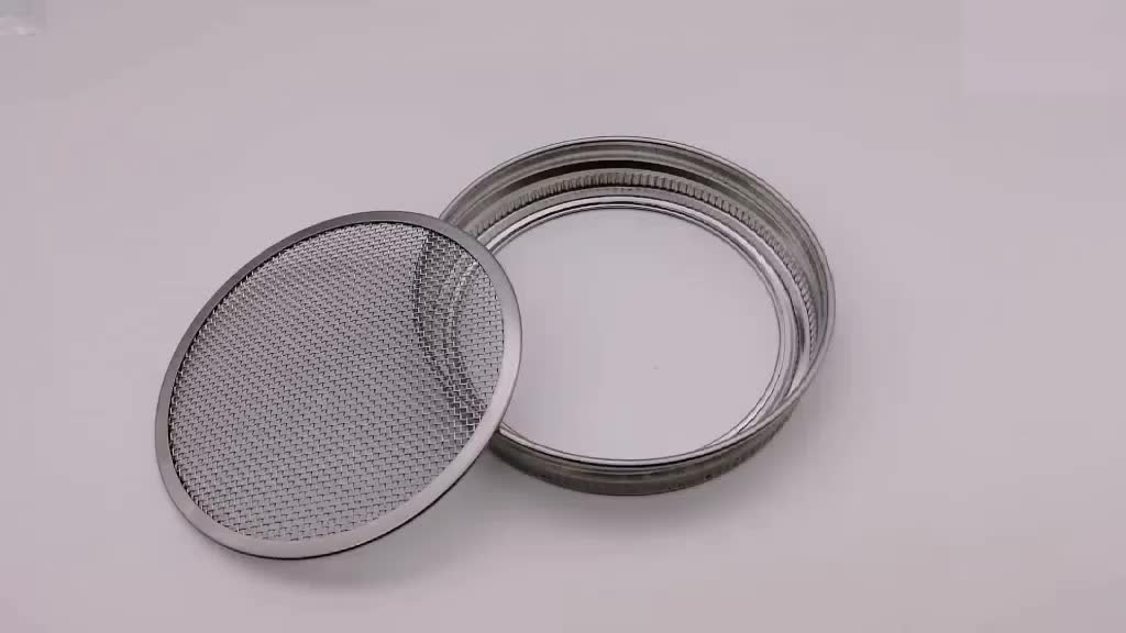 Air vent cover lids for jars stainless steel sprouting lids