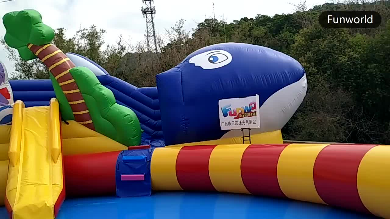 Waterproof and fireproof inflatable aqua park inflatable commercial water park