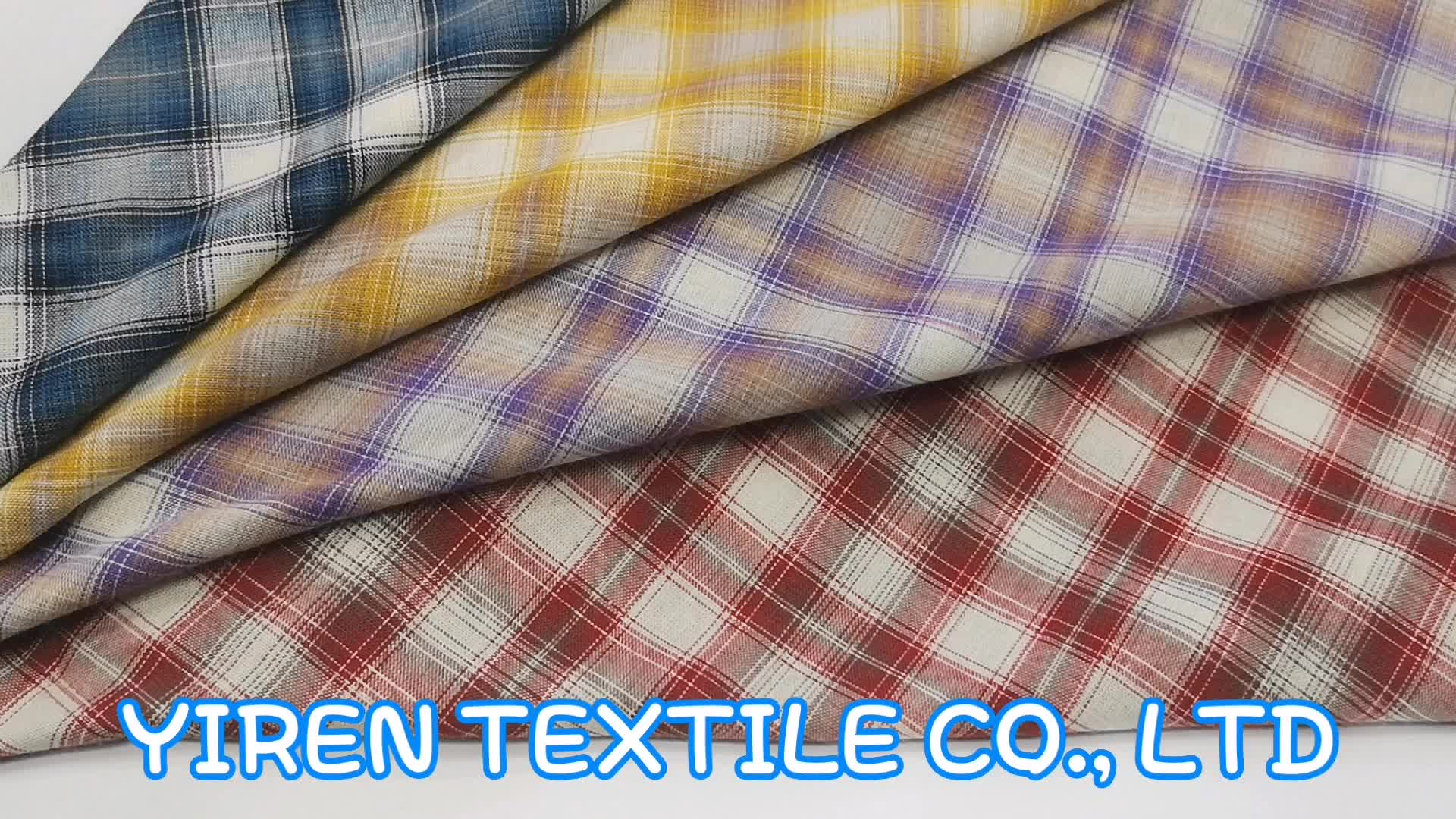 Postmodern  design   100%  cotton check plaid fabric for   shirts for uniform with ready stock