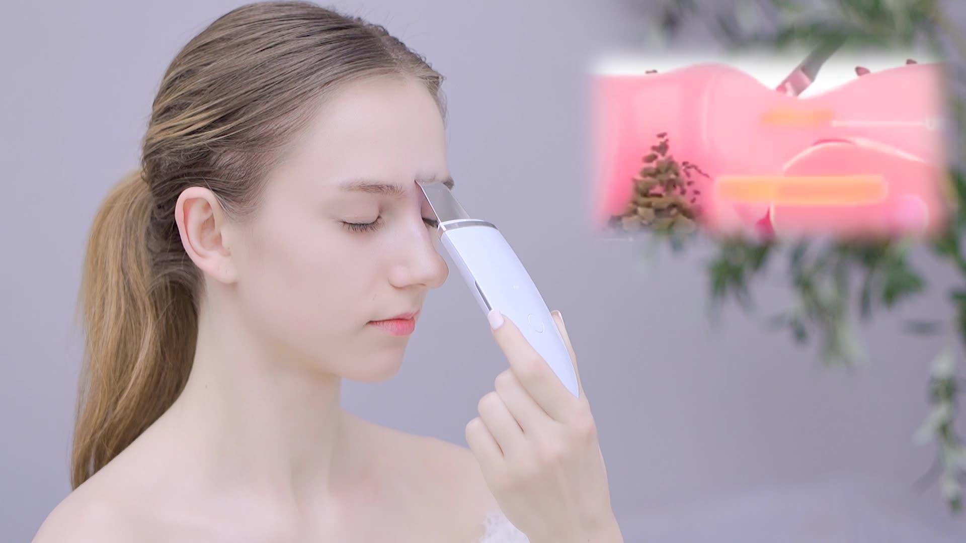 2020 최신 아름다움 개인 스킨 케어 장치 초음파 얼굴 피부 스크러버
