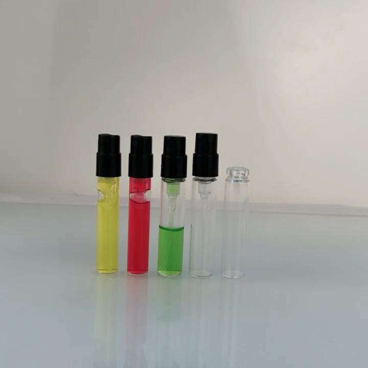 คุณภาพสูง 1.5 ml สเปรย์ขวด 2.5 ml ขนาดเล็กเครื่องทดสอบตัวอย่างขวดน้ำหอม