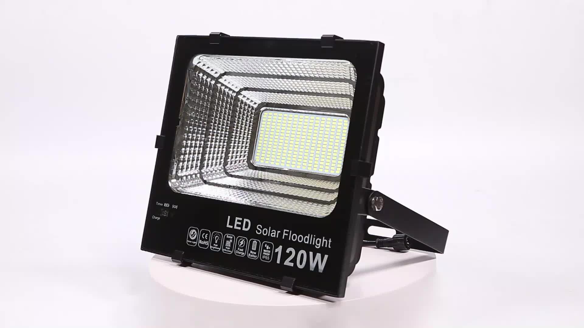 300W High Power Solar Spot Light Pathway Lamp Solar LED Flood Light for Outdoor use 3 Years Warranty
