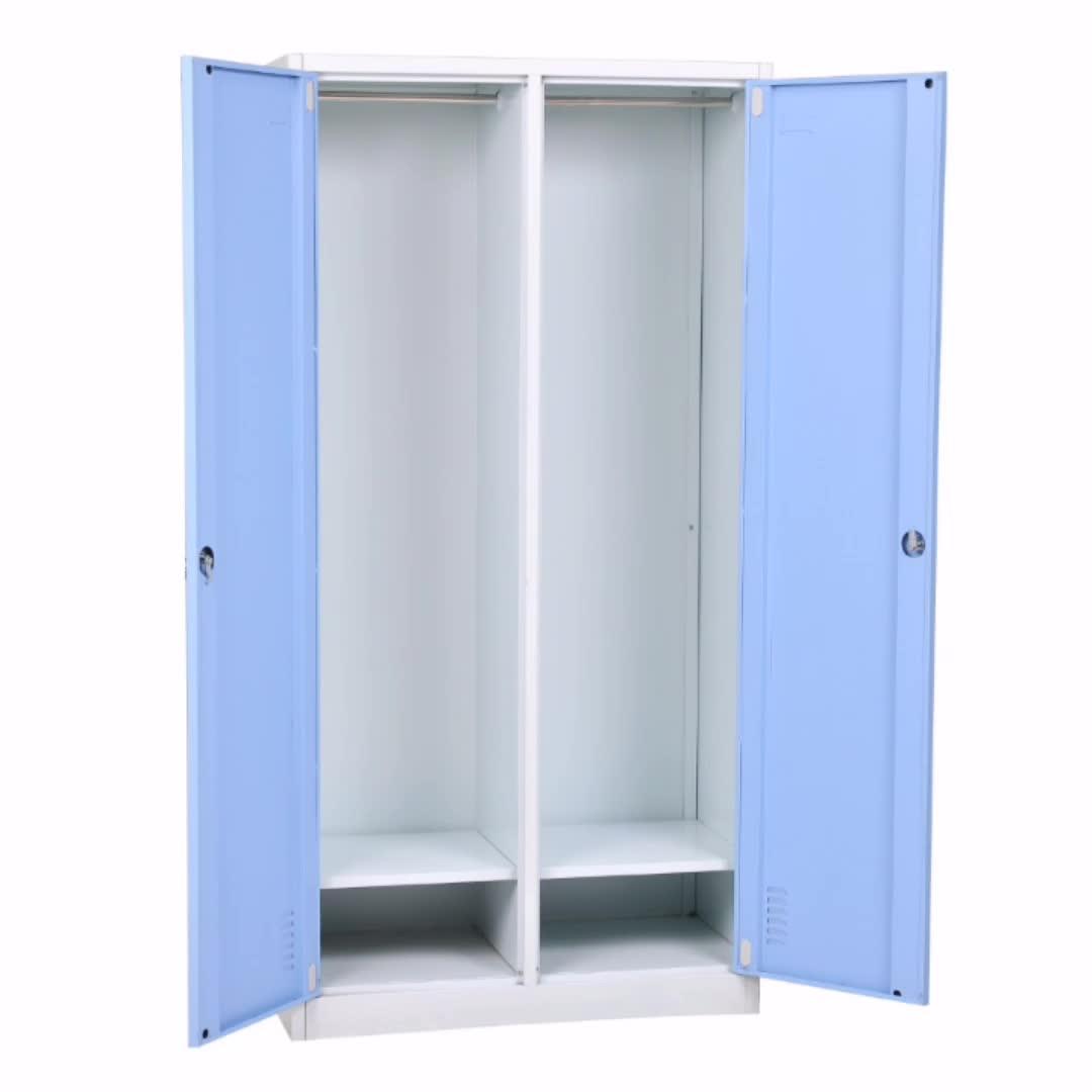 2 porta di metallo vestiti armadio guardaroba armadietto in acciaio per la ginnastica moderna camera da letto mobili godrej almirah metallo vestiti amoires