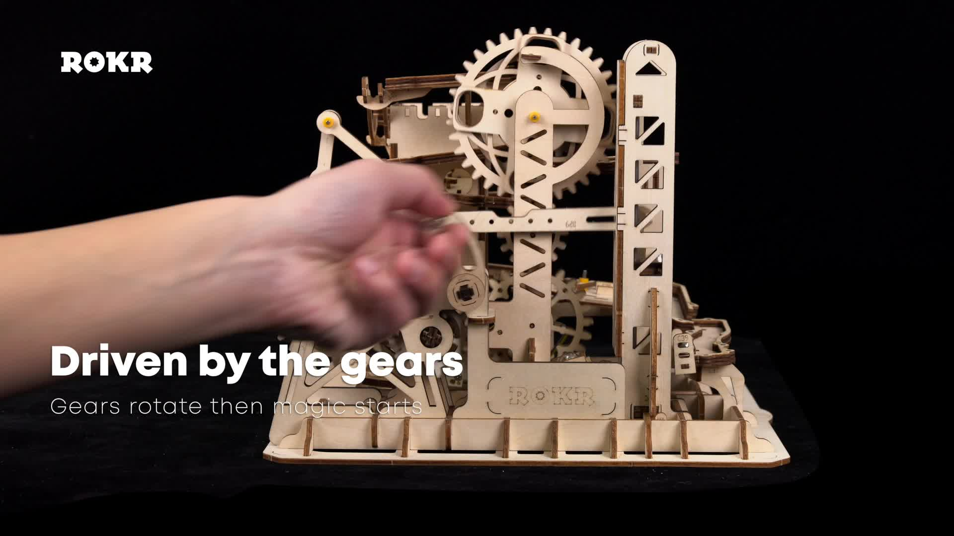ROKR Mechanical Gears Tower Coaster Wooden 3D Puzzle Model