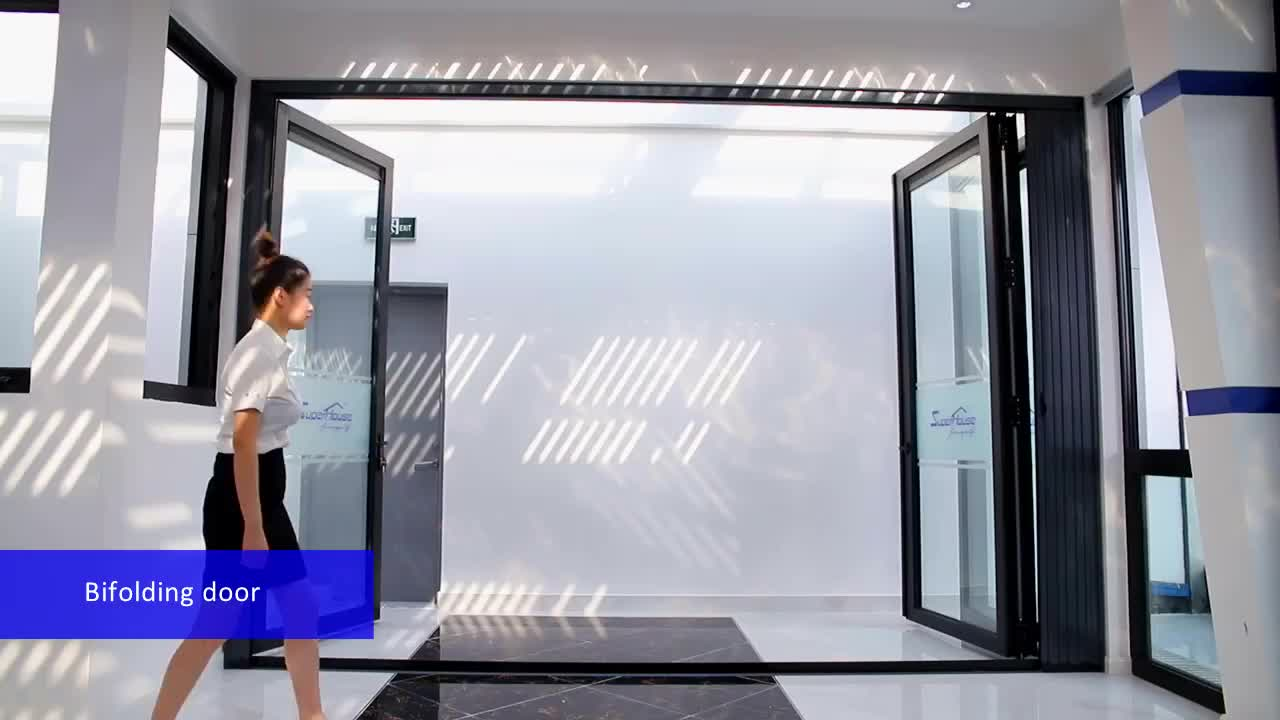 china manufacture french double seal-ing aluminium folding patio doors prices