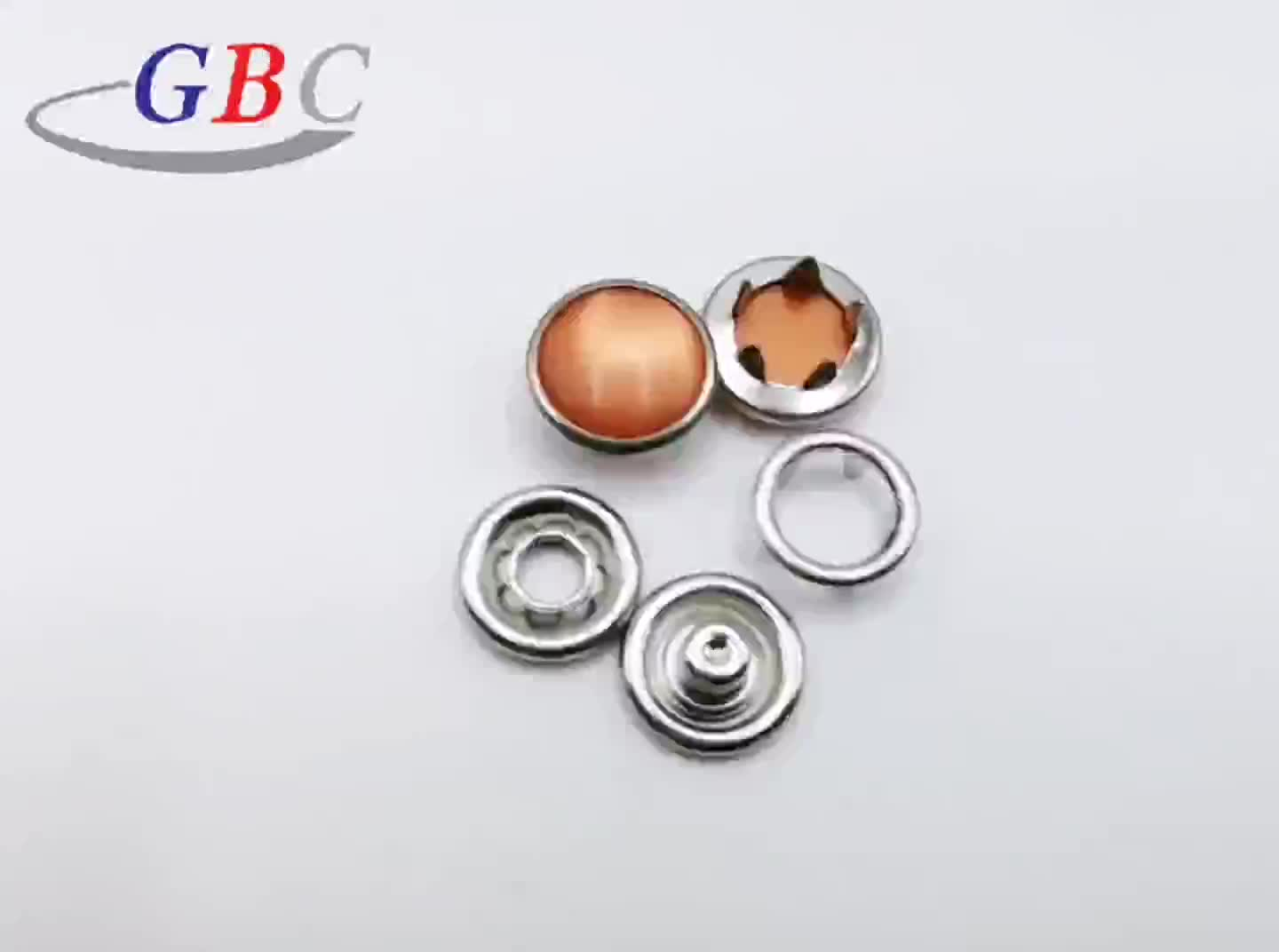 Colorful Brass metal prong press stud button for coats