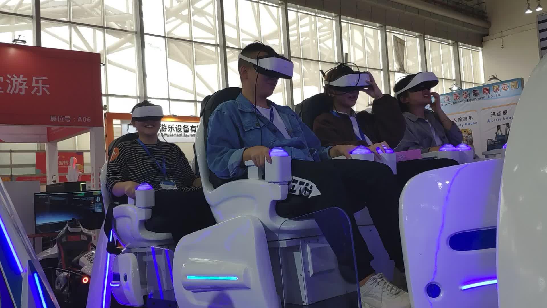 معدات متنزه 6 مقاعد Vr محاكاة الواقع الافتراضي 9D Vr محاكاة الطيران للبيع