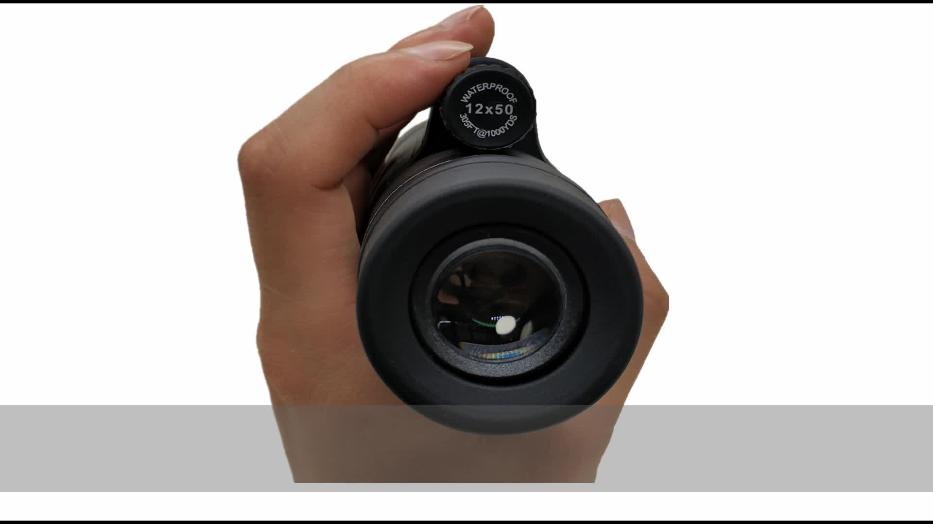 Long range monocular telescope for smartphone