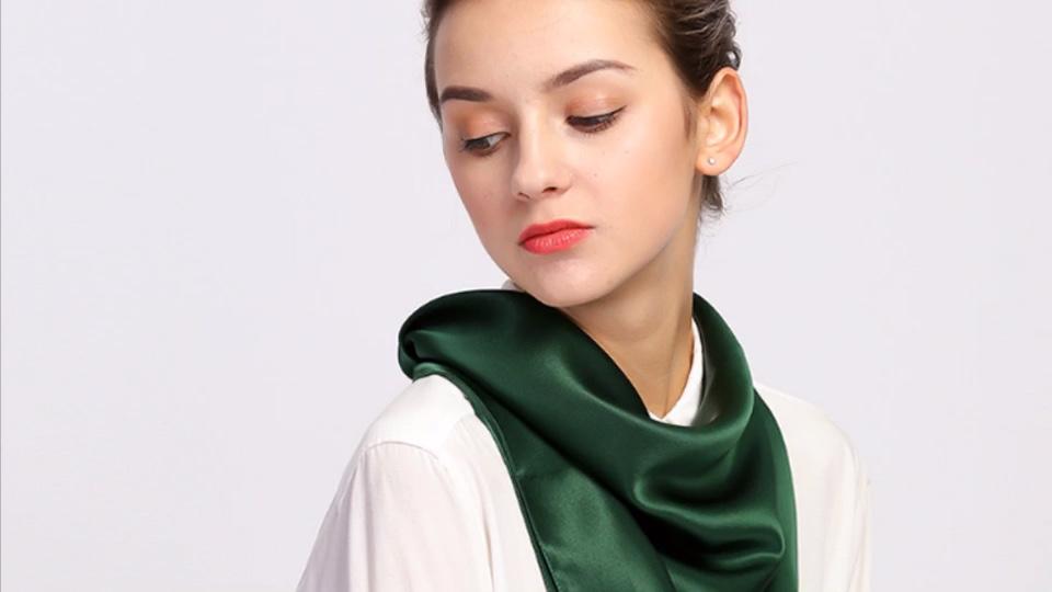 90*90cm wholesale customized printed silk satin women scarf