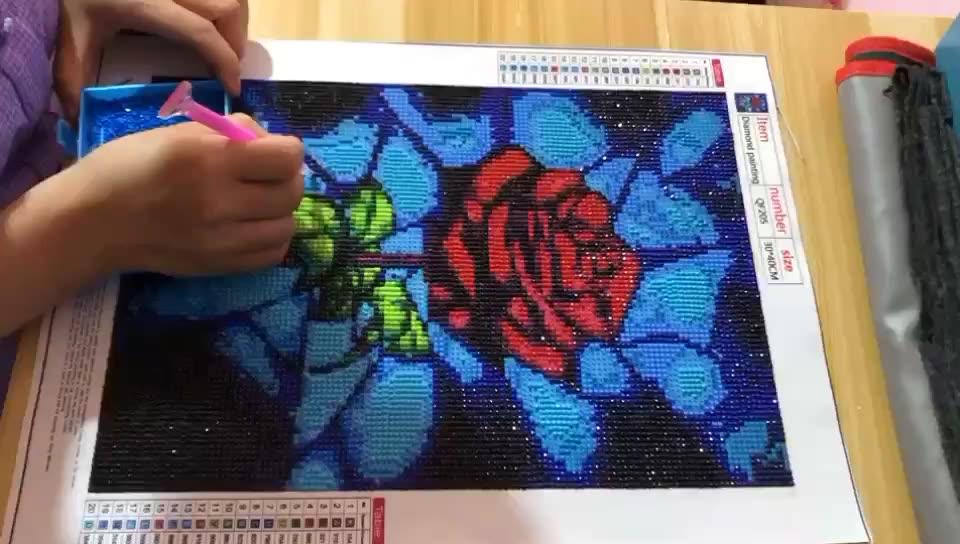 Flower DIY Diamond Embroidery Set Home Decoration Rose Pattern Ornaments Round Full Diamond 5D Diamond Painting