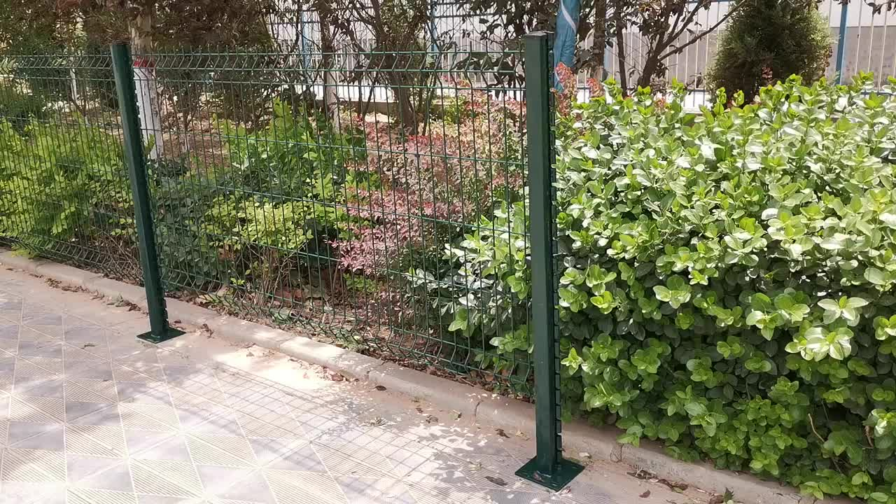 High Security Anti Climb Airport Fence With Welded Mesh