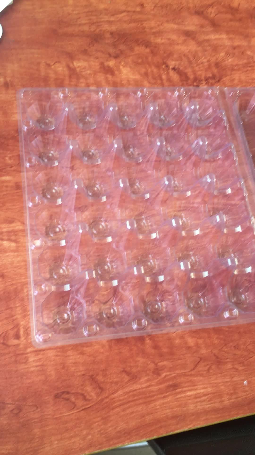 Alta qualidade de 4, 8, 9, 10, 12, 15, 30 pacotes de bandeja de ovos de plástico transparente descartável