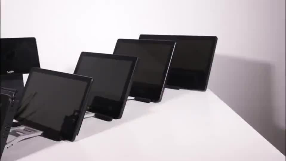15 inch all in one LED capacitive 10 points small touch screen monitor with pc